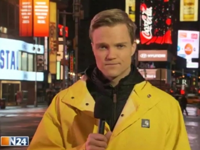 Manuel Koch berichtet über Hurrikan Sandy bei N24